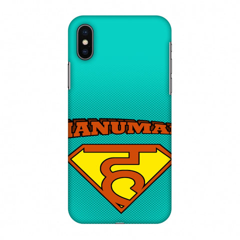 Hanu - Man - Teal Slim Hard Shell Case For Apple iPhone X