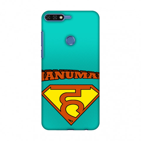 Hanu - Man - Teal Slim Hard Shell Case For Huawei Honor 7C