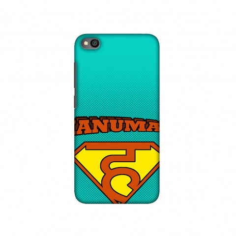 Hanu - Man - Teal Slim Hard Shell Case For Redmi Go