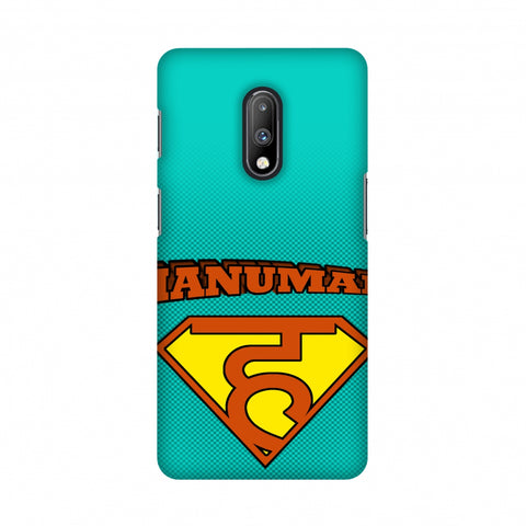 Hanu - Man - Teal Slim Hard Shell Case For OnePlus 7