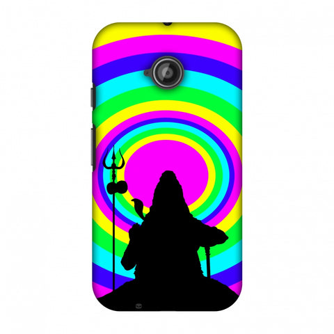 Shiva Psychedelic Slim Hard Shell Case For Motorola Moto E 2nd Gen