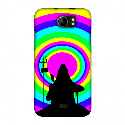Shiva Psychedelic Slim Hard Shell Case For Micromax Canvas 2 A110