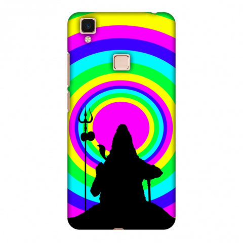 Shiva Psychedelic Slim Hard Shell Case For Vivo V3 Max