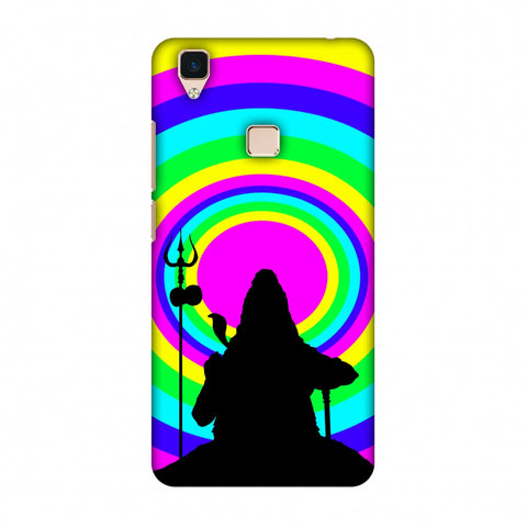 Shiva Psychedelic Slim Hard Shell Case For Vivo V3
