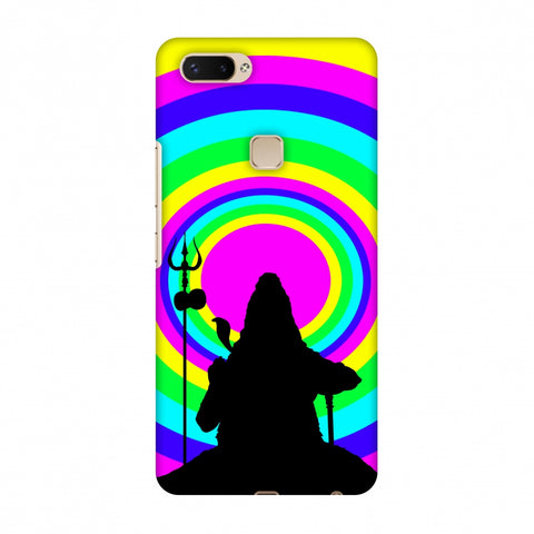 Shiva Psychedelic Slim Hard Shell Case For Vivo X20 Plus