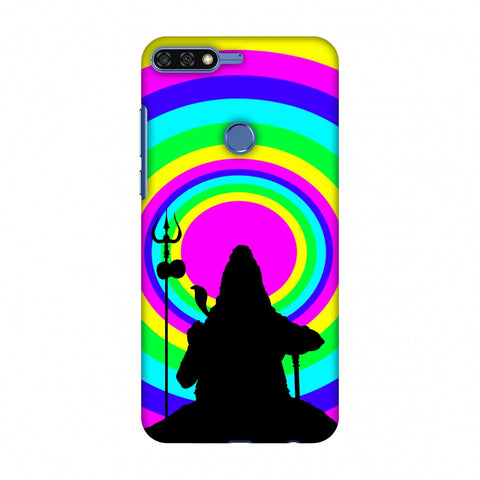 Shiva Psychedelic Slim Hard Shell Case For Huawei Honor 7C