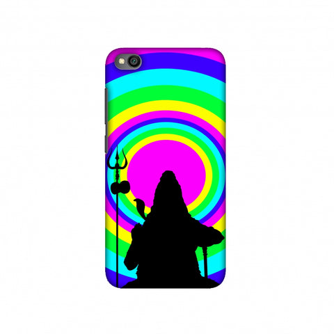 Shiva Psychedelic Slim Hard Shell Case For Redmi Go