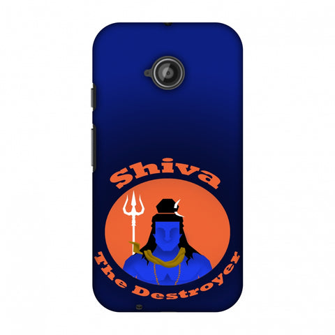 Shiva - The Destroyer - Blue Slim Hard Shell Case For Motorola Moto E 2nd Gen
