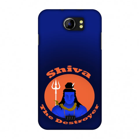 Shiva - The Destroyer - Blue Slim Hard Shell Case For Micromax Canvas 2 A110