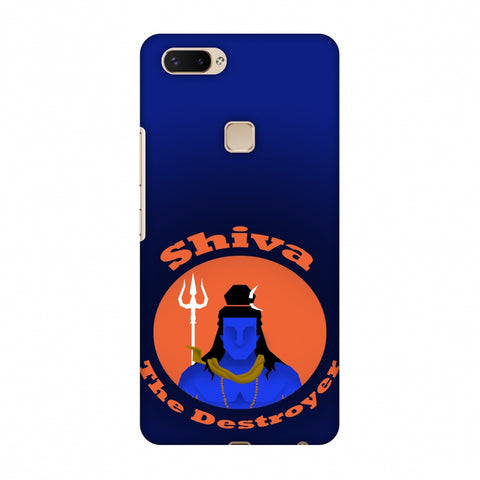 Shiva - The Destroyer - Blue Slim Hard Shell Case For Vivo X20 Plus