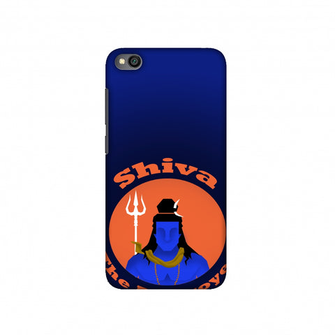 Shiva - The Destroyer - Blue Slim Hard Shell Case For Redmi Go