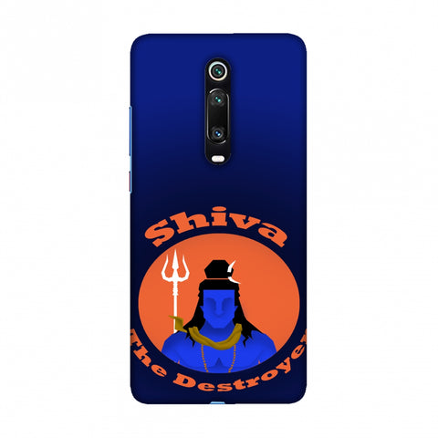 Shiva - The Destroyer - Blue Slim Hard Shell Case For Redmi K20/K20 Pro
