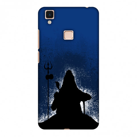 Shiva - Meditation - Blue Slim Hard Shell Case For Vivo V3 Max