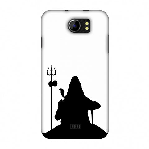 Shiva - Meditation - White Slim Hard Shell Case For Micromax Canvas 2 A110
