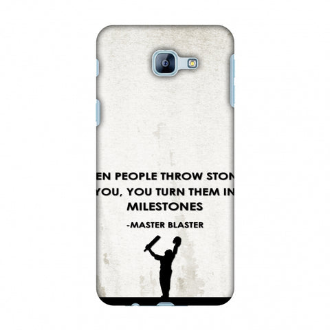 Sachin - Quotes - Beige Slim Hard Shell Case For Samsung Galaxy A8 2016
