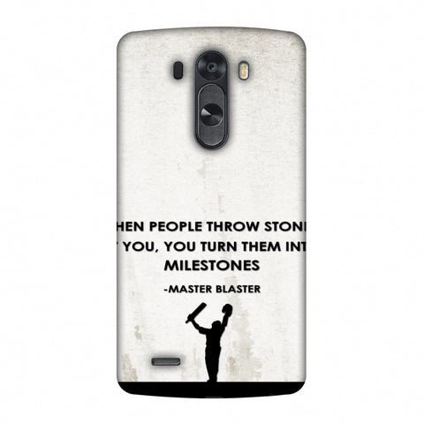 Sachin - Quotes - Beige Slim Hard Shell Case For LG G4