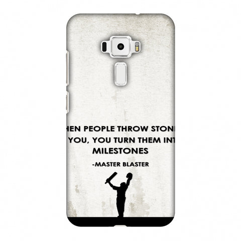 Sachin - Quotes - Beige Slim Hard Shell Case For Asus Zenfone 3 ZE520KL