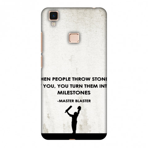 Sachin - Quotes - Beige Slim Hard Shell Case For Vivo V3 Max
