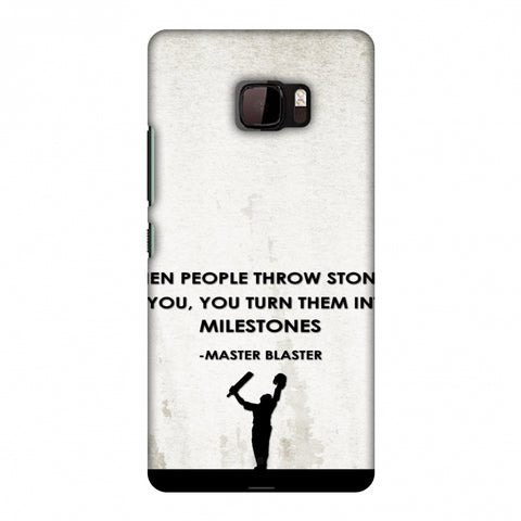 Sachin - Quotes - Beige Slim Hard Shell Case For HTC U Ultra
