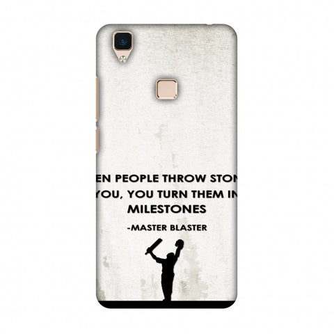 Sachin - Quotes - Beige Slim Hard Shell Case For Vivo V3