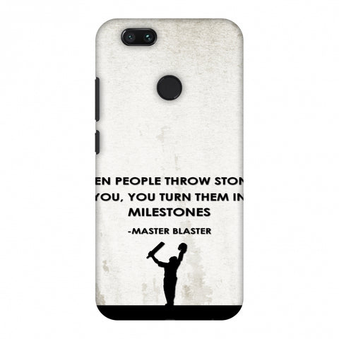 Sachin - Quotes - Beige Slim Hard Shell Case For Xiaomi MI A1-5X