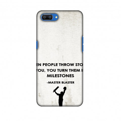 Sachin - Quotes - Beige Slim Hard Shell Case For Oppo Realme C1