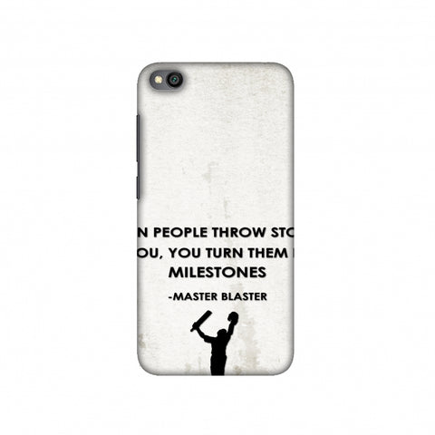 Sachin - Quotes - Beige Slim Hard Shell Case For Redmi Go