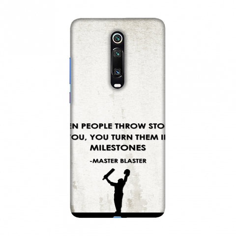 Sachin - Quotes - Beige Slim Hard Shell Case For Redmi K20/K20 Pro