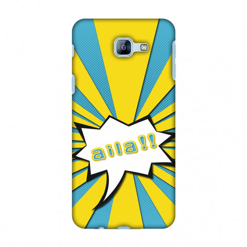 Sachin - Illustrations - Aila - Teal Slim Hard Shell Case For Samsung Galaxy A8 2016