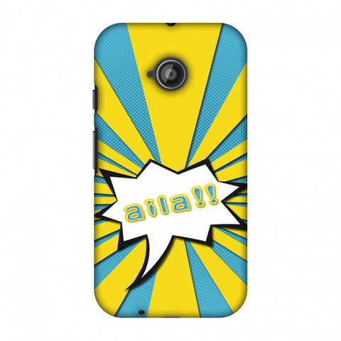 Sachin - Illustrations - Aila - Teal Slim Hard Shell Case For Motorola Moto E 2nd Gen