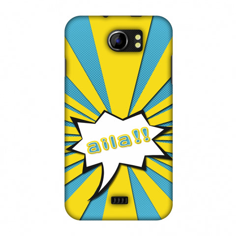Sachin - Illustrations - Aila - Teal Slim Hard Shell Case For Micromax Canvas 2 A110