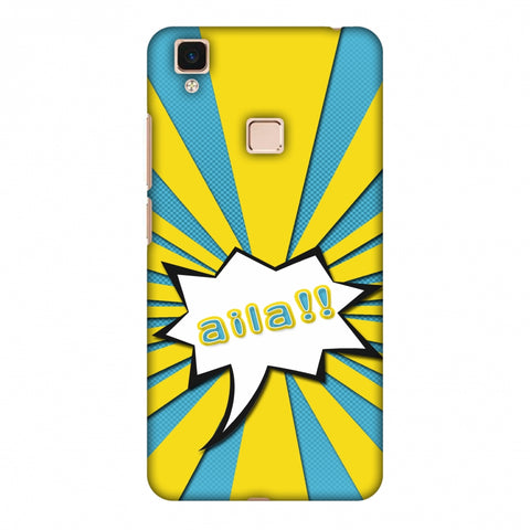 Sachin - Illustrations - Aila - Teal Slim Hard Shell Case For Vivo V3 Max
