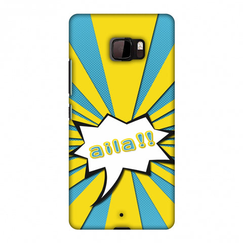 Sachin - Illustrations - Aila - Teal Slim Hard Shell Case For HTC U Ultra