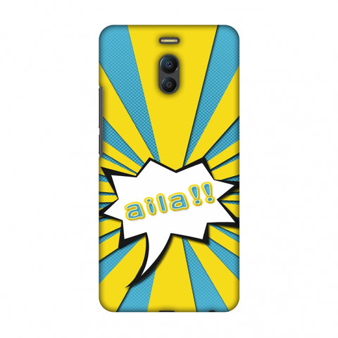 Sachin - Illustrations - Aila - Teal Slim Hard Shell Case For Meizu Note 6