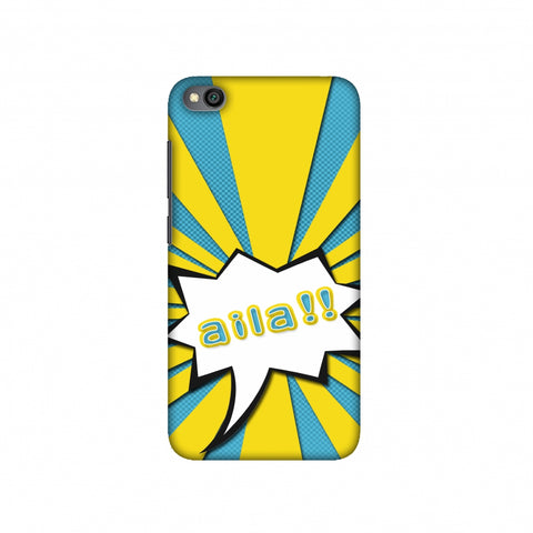 Sachin - Illustrations - Aila - Teal Slim Hard Shell Case For Redmi Go