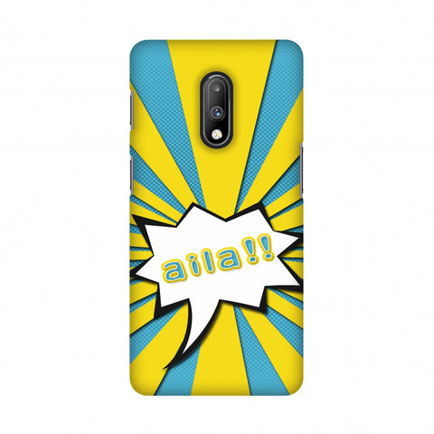Sachin - Illustrations - Aila - Teal Slim Hard Shell Case For OnePlus 7