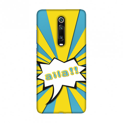 Sachin - Illustrations - Aila - Teal Slim Hard Shell Case For Redmi K20/K20 Pro