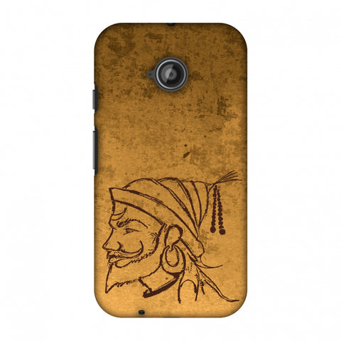 Shivaji Portrait - SAnd Yellow Slim Hard Shell Case For Motorola Moto E 2nd Gen