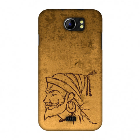 Shivaji Portrait - SAnd Yellow Slim Hard Shell Case For Micromax Canvas 2 A110