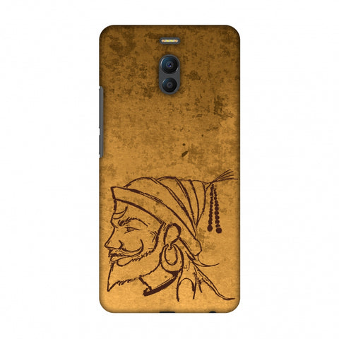 Shivaji Portrait - SAnd Yellow Slim Hard Shell Case For Meizu Note 6