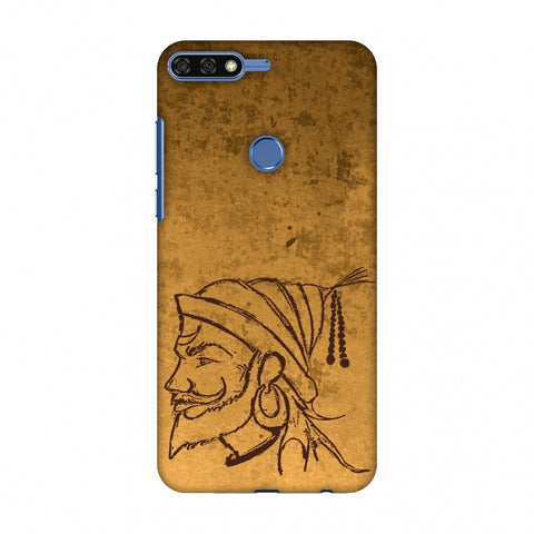 Shivaji Portrait - SAnd Yellow Slim Hard Shell Case For Huawei Honor 7C