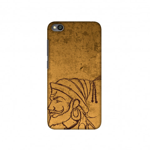 Shivaji Portrait - Sand Yellow Slim Hard Shell Case For Redmi Go