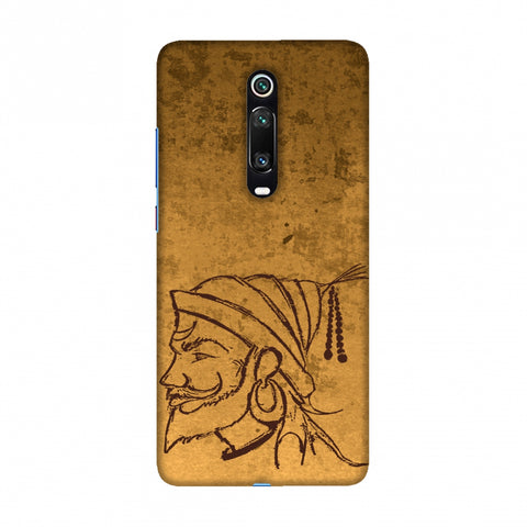 Shivaji Portrait - Sand Yellow Slim Hard Shell Case For Redmi K20/K20 Pro