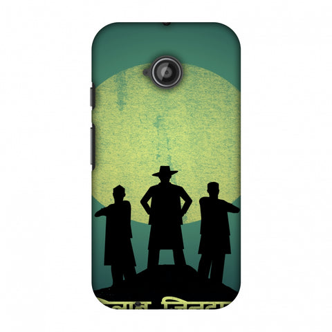 Inquilab Zindabad - Portrait - Teal Slim Hard Shell Case For Motorola Moto E 2nd Gen