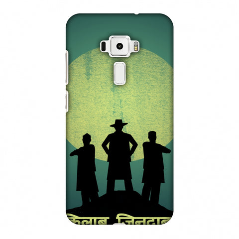 Inquilab Zindabad - Portrait - Teal Slim Hard Shell Case For Asus Zenfone 3 ZE520KL