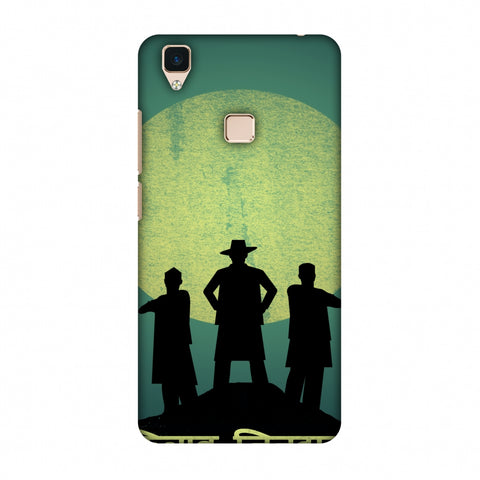 Inquilab Zindabad - Portrait - Teal Slim Hard Shell Case For Vivo V3