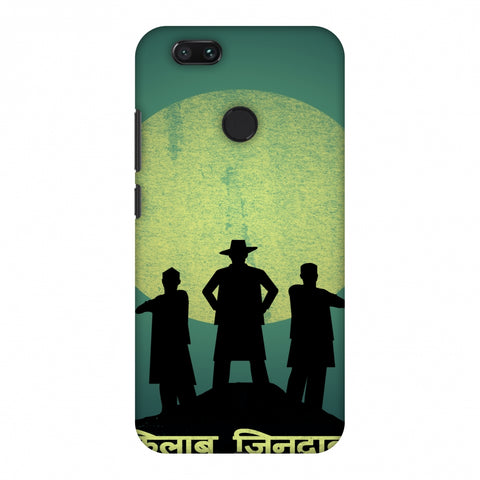 Inquilab Zindabad - Portrait - Teal Slim Hard Shell Case For Xiaomi MI A1-5X