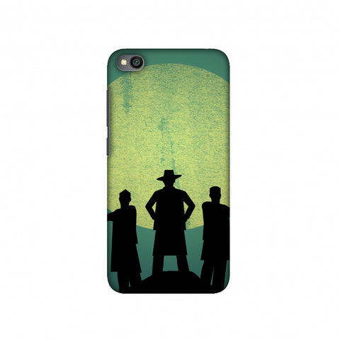 Inquilab Zindabad - Portrait - Teal Slim Hard Shell Case For Redmi Go