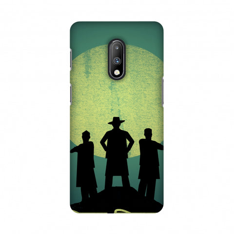 Inquilab Zindabad - Portrait - Teal Slim Hard Shell Case For OnePlus 7