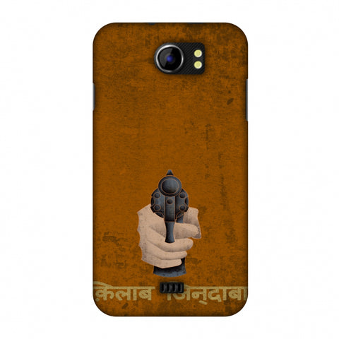 Inquilab Zindabad - BAndook - Mustard Slim Hard Shell Case For Micromax Canvas 2 A110